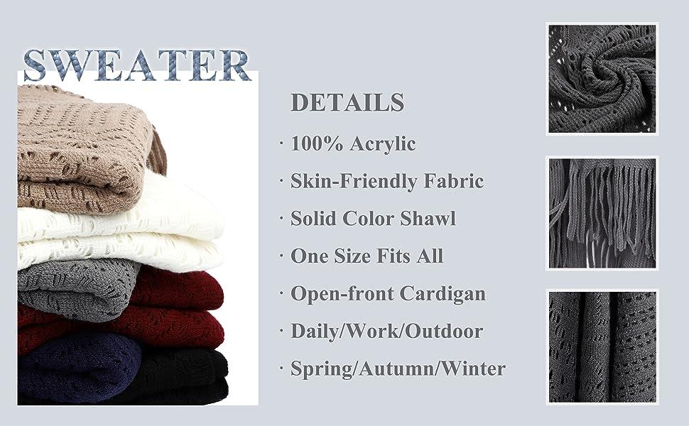 knit shawl for women