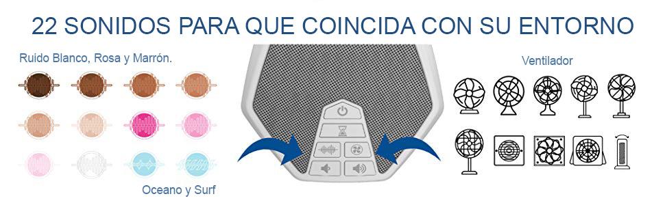 LectroFan Evo - Máquina de Ruido Blanco con 22 Sonidos Únicos de ...