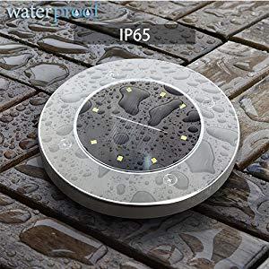 8 LED Solar Garden Lights Outdoor Waterproof Sidewalk Disk Lights