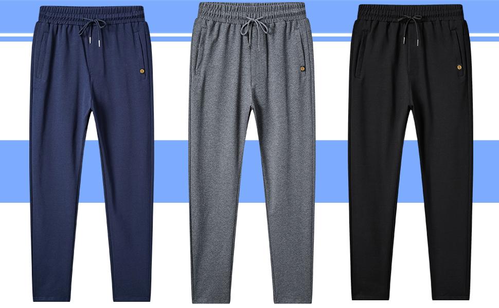 Mens Open-Bottom Sweatpants Trousers
