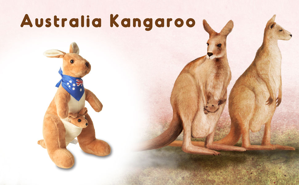 stuffed red kangaroo