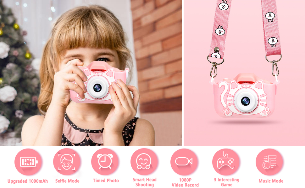 Kids Digital Camera - 12MP Children's Selfie Camera with 3.5 Inches Large Screen for Boys and Girls