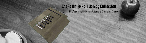 Professional Chef's Knife Roll Up Bag Collection