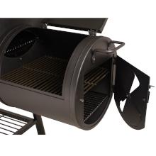 taino yuma 90 kg smoker holz-kohle-grill lokomotive grillen smoken räuchern schwarz feuer-box kammer
