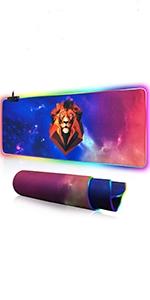 Large RGB gaming mouse pad