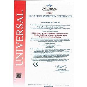CRAZYCHIC - Masque FFP2 NR - Norme CE EN149 - Masque de Protection Respiratoire Certifié - Haute