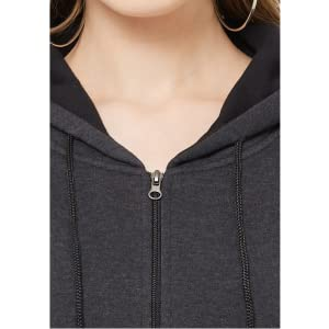 women zipper sweatshirt