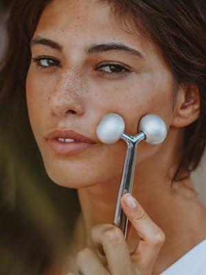 metal face roller, skin gym, face sculpting tool, facial roller massager, face massage roller