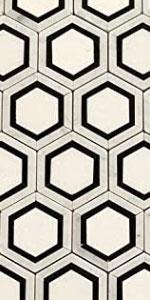 carrara hexagon mosaic tile