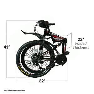 folded mountain bike