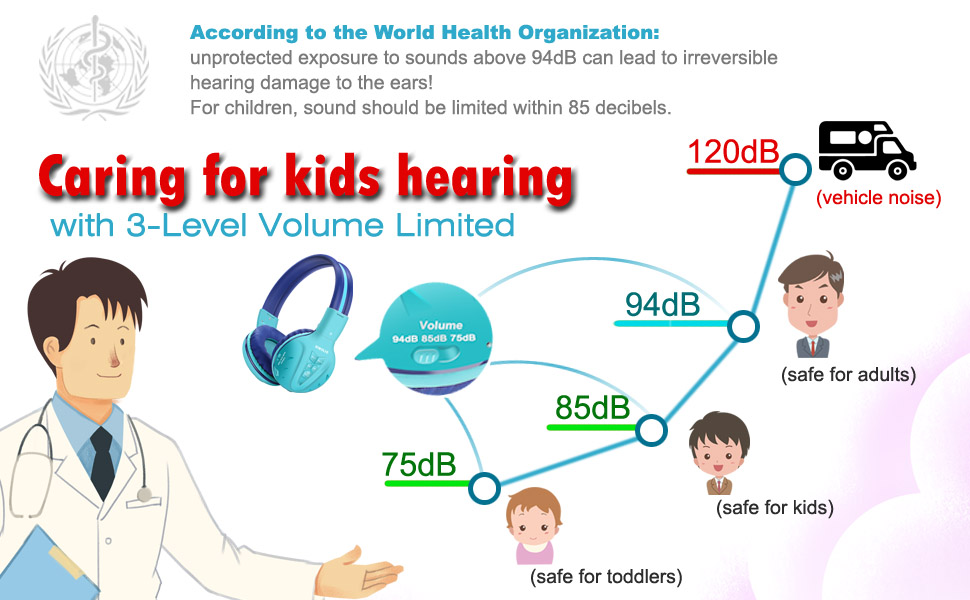 bluetooth headsets for kids with volume limiting