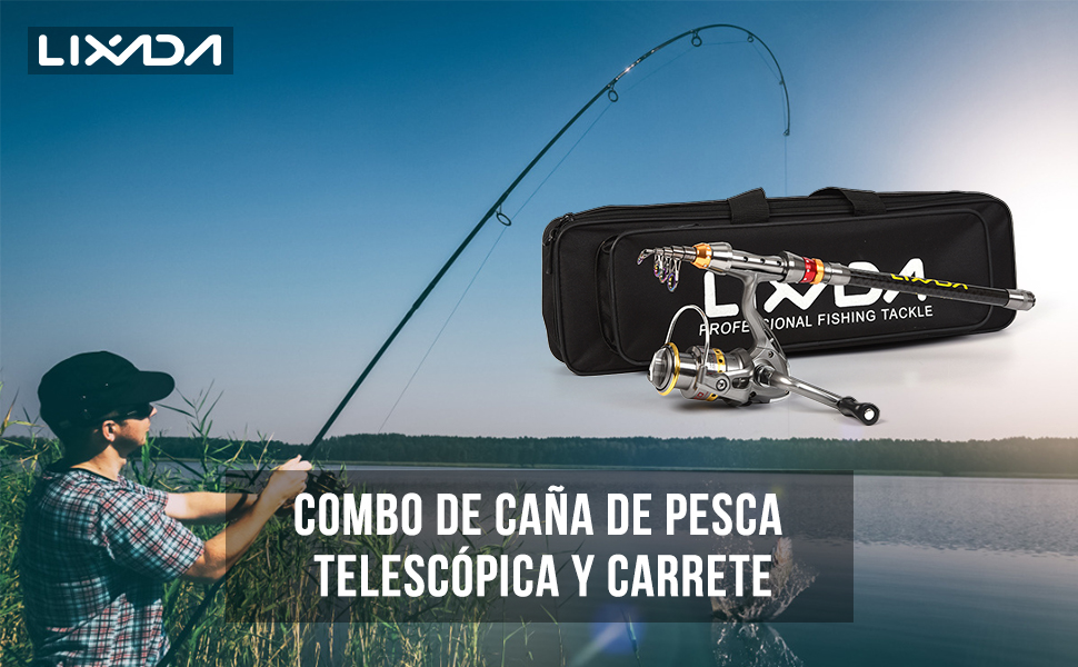 Lixada Caña de Pesca Aparejo de Pesca Conjunto, Caña de Pesca+ ...