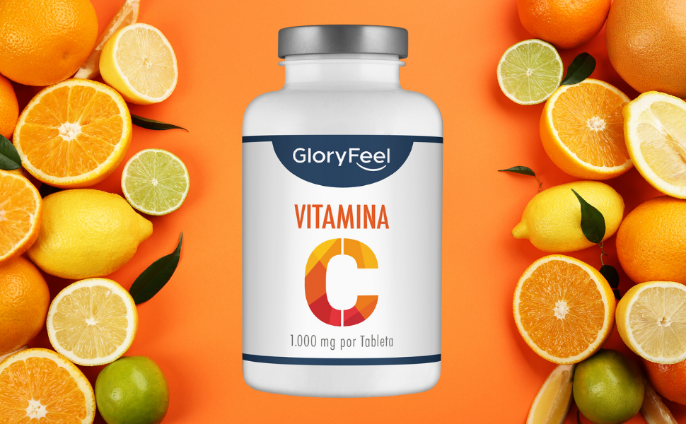 GloryFeel® Vitamina C de dosis alta 1000 mg - Reduce el cansancio ...