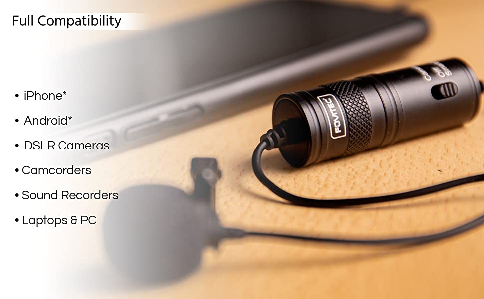 for iPhone Android Smartphone Camera DSLR Audio Recorder Laptop PC