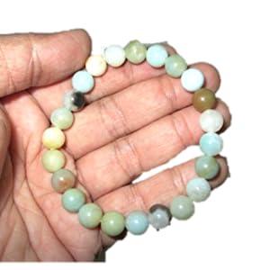 aquamarine raw stone Unisex 10 mm dragon rudraksha birth stone healing bracelet Edition of 1 yoga bracelet