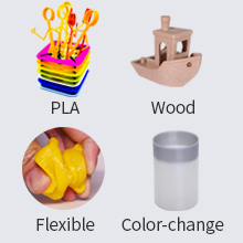 Support various of filament
