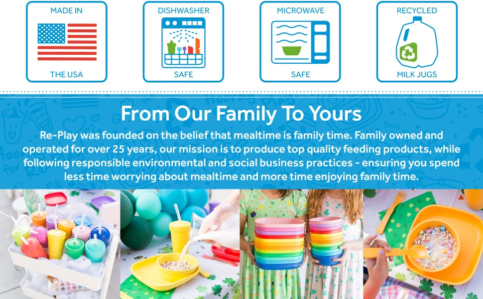 From our family to yours! Re-Play was founded on the belief that mealtime is family time.