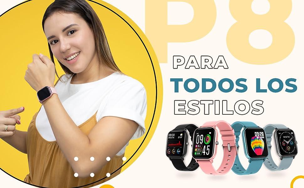 P8, BINDEN, Smartwatch, Smartwatchp8, Reloj inteligente