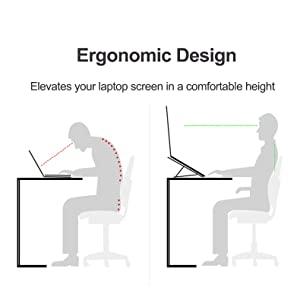 ergonomic laptop riser