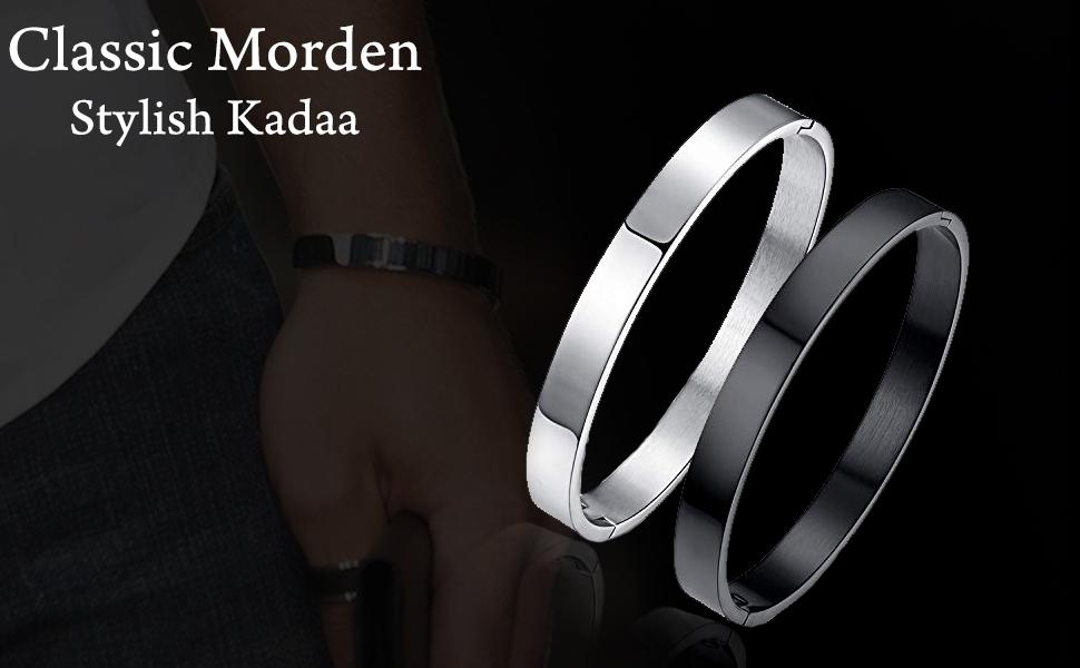 High Polished Stainless Steel Kadaa Bracelets Bikers for men titanium men Bracelet banners