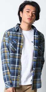 (リアルコンテンツ)REAL CONTENTS チェック シャツ メンズ 長袖 ゆったり 大きいサイズ カジュアルシャツ 91-h324-rc