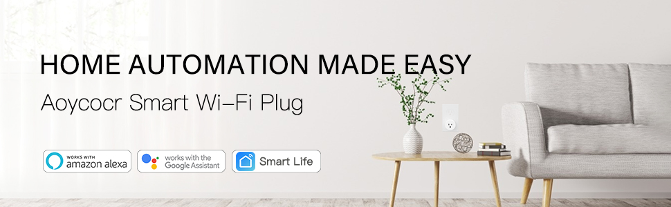 smart plug  Alexa Smart Plugs – Aoycocr Mini WIFI Smart Socket Switch Works With Alexa Echo Google Home, Remote Control Smart Outlet with Timer Function, No Hub Required, ETL/FCC Listed 4 Pack Only 2.4GHz Network 8a2cc6cf 71ea 42cc b8b4 a62a2a559326