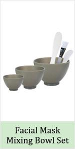 glycolic acid clay mud powder spa mask mixing bowl set silicone rubber brush spatula sponge removal