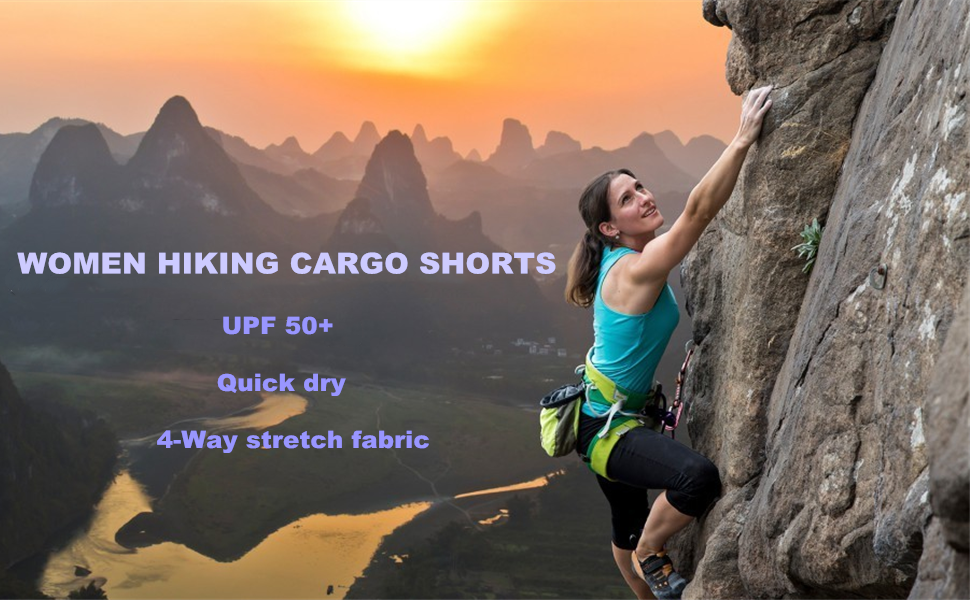 Women's Fashion Lightweight Stretch Quick Dry Shorts for Hiking, Camping, Travel Casual Relax Pant