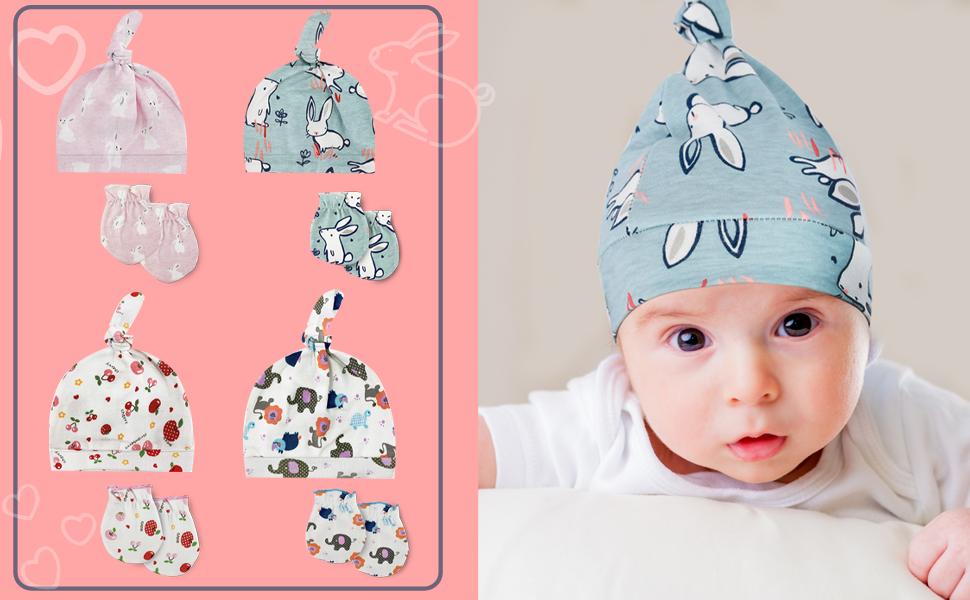accsa Gorro y guantes de unicornio para beb/é de invierno con gorro y manoplas para reci/én nacidos