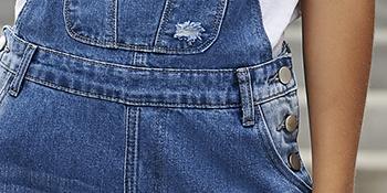 ripped denim overalls fashion cute jumpsuits for women juniors teen girls