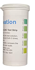 Residual quat test strips low level surface residue test
