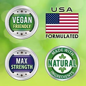 Natural Antihistamine vegan friendly allergies immune system cardiovascular 200 400 500 1000 mg