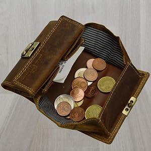 Petite Daim Portefeuille âge équitable Maniable Cuir Seniors Porte-monnaie