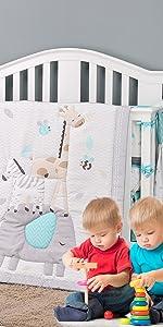 jungle crib bedding sets boy elephant