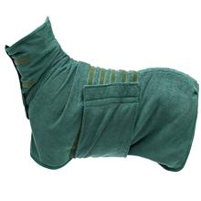 Blue Large Morezi Pet towel microfibre dog bath robe anxiety relief jacket vest design keep calm wrap vest fit for xs small medium large dogs