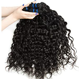 water wave hair bundles with closure