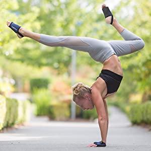 travel yoga mat gloves socks non slip pilates toeless women grip fingerless nonslip bikram vinyasa