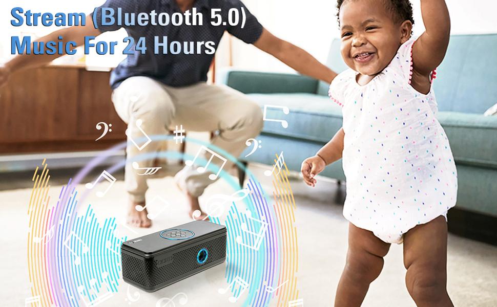 Stream (Bluetooth 5.0) Music For 24 Hours