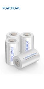 Oplaadbare C-batterijen