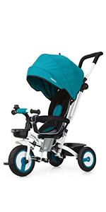 Fascol 7 en 1 Triciclo Bebe con Asiento Giratorio y Ruedas de ...