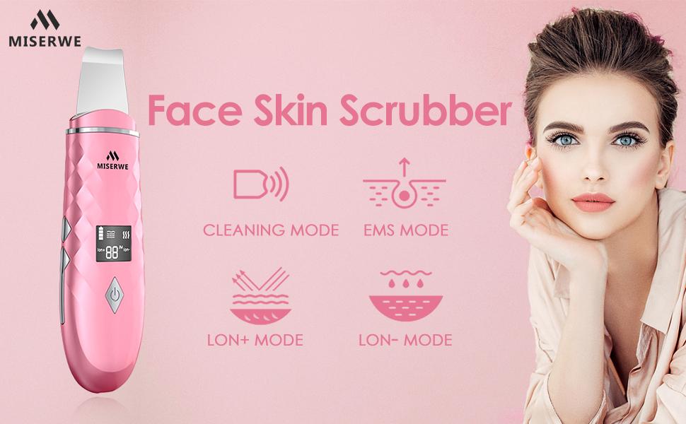 Pink skin scrubber