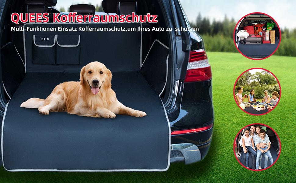 Quees Kofferraumschutz Hund Für Suv Kombi Kofferraumdecke Für Hunde Mit Seitenschutz Und Ladekantenschutz Universelle Passform Haustier