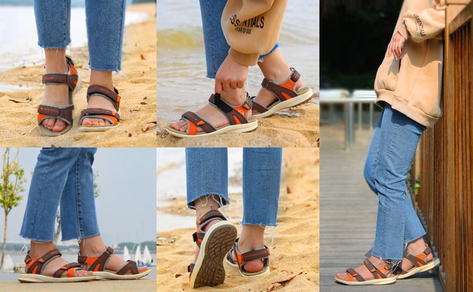 women beach sandals walking hiking trekking travel sandles outdoor adventure water shoes fisherman