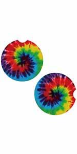 Tie Dye Car Coasters
