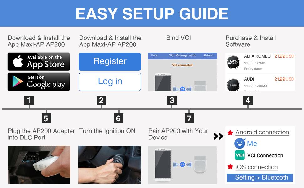 Amazon Com  Autel Ap200 Obd2 Scanner Bluetooth Car Code