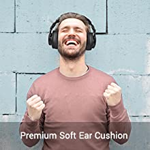 Comfortable over ear headphones