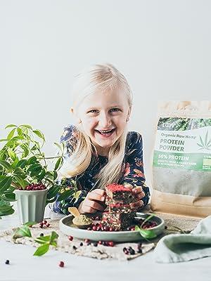 raw hemp seed powder protein organic vegan