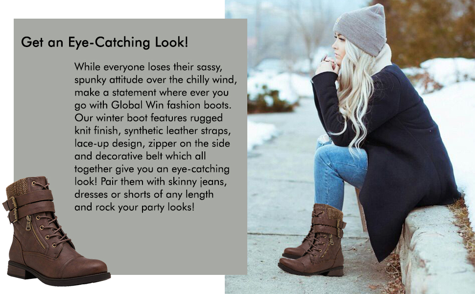 Fashion boots for girls with laces.