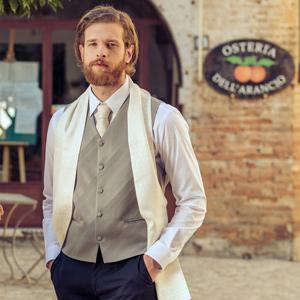 white silk tuxedo formal scarf