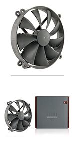 Noctua NF-P14s redux-1200 3 Broches 1200 tr.//min 140 mm, Grise Ventilateur Haute Performance